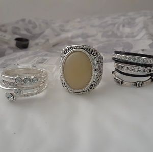 VARIETY OF 3 BRAND NWT RINGS SIZE 7